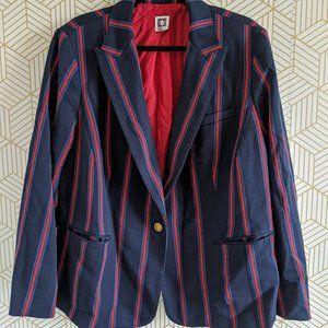 Blue and red striped blazer Anne Klein,18W